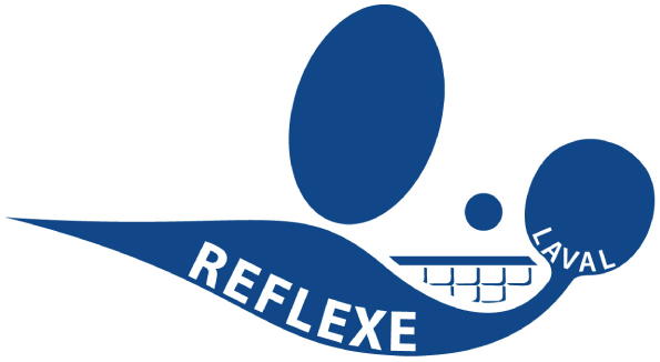 Logo du club de tennis de table Réflexe de Laval