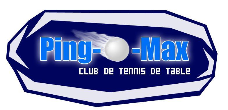 Logo du club de tennis de table Ping-O-Max de Trois-rivières