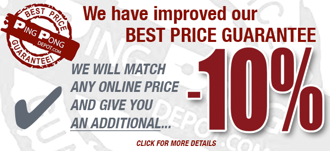 Banner announcing the improvement of our best price guarantee. We will match any online price and add 10% off