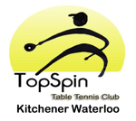 Topspin table tennis club of Waterloo Kitchener logo