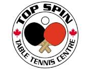 Top Spin table tennis center logo from Toronto